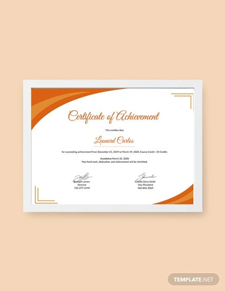 Certificate Of Achievement Template  10 Pdf Word Ai in Printable Certificate Of Attainment Template