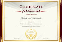 Certificate Of Achievement Template  Addictionary for Free Certificate Of Achievement Template Word