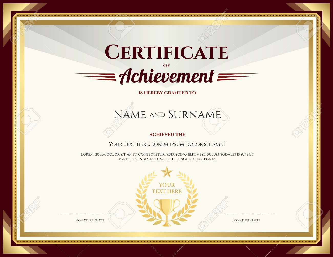 Certificate Of Achievement Template  Addictionary intended for Awesome Word Template Certificate Of Achievement