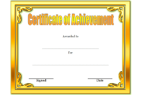 Certificate Of Achievement Template Editable Free 3 In for Free Printable Certificate Of Achievement Template