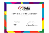 Certificate Of Achievement Template For Kids 9 pertaining to Word Certificate Of Achievement Template