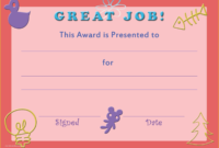 Certificate Of Achievement Template Free Of Printable intended for Quality Certificate Of Achievement Template For Kids