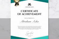 Certificate Of Achievement Template  Premium Psd File in Certificate Of Accomplishment Template Free