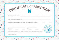 Certificate Of Adoption Design Template In Psd Word in Pet Adoption Certificate Editable Templates