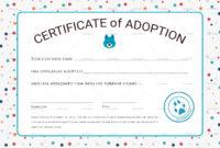 Certificate Of Adoption Design Template In Psd Word throughout Cat Adoption Certificate Template 9 Designs