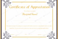 Certificate Of Appreciation 09  Word Layouts for Certificate Of Appreciation Template Word