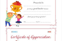 Certificate Of Appreciation  28 Free Pdf Ppt Documents intended for Best Best Teacher Certificate Templates Free