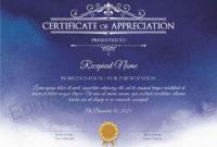 Certificate Of Appreciation Editable Printable Certificate for Recognition Certificate Editable