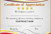 Certificate Of Appreciation For Employees  Planner for Best Employee Recognition Certificates Templates Free