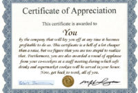 Certificate Of Appreciation For Employees  Printable for Printable Employee Anniversary Certificate Template