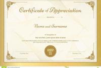 Certificate Of Appreciation Template  Addictionary within In Appreciation Certificate Templates