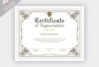 Certificate Of Appreciation Template Editable Free inside Editable Certificate Of Appreciation Templates