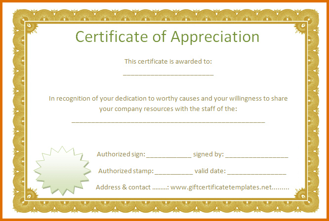 Certificate Of Appreciation Template Free Printable for Downloadable Certificate Of Recognition Templates