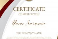 Certificate Of Appreciation Template  Premium Vector within Quality Free Certificate Of Appreciation Template Downloads