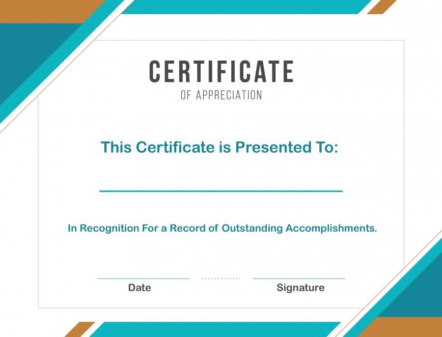 Certificate Of Appreciation Template Word  Addictionary throughout Amazing Certificate Of Appreciation Template Word