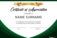 Certificate Of Appreciation Template Word  Addictionary throughout Certificate Of Recognition Template Word