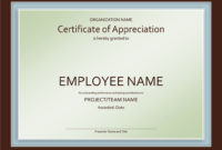 Certificate Of Appreciation Templates  Task List Templates inside Certificate Of Appreciation Template Doc