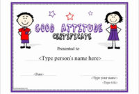 Certificate Of Attendance Template Free Awesome 11 within Printable Perfect Attendance Certificate Template