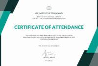 Certificate Of Attendance Template Free Inspirational in Certificate Of Attendance Conference Template