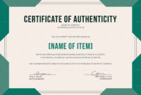 Certificate Of Authenticity Autograph Template throughout Certificate Of Authenticity Template