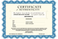 Certificate Of Authenticity  Certificates Templates Free in Certificate Of Authenticity Photography Template