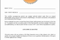 Certificate Of Authenticity For Photography Lovely for Authenticity Certificate Templates Free