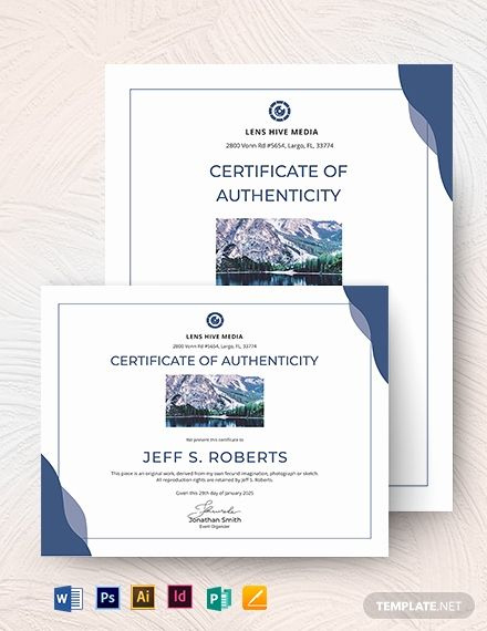 Certificate Of Authenticity Photography Template New within Authenticity Certificate Templates Free