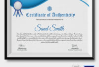 Certificate Of Authenticity Template  20 Free Word Pdf intended for Certificate Of Authenticity Templates