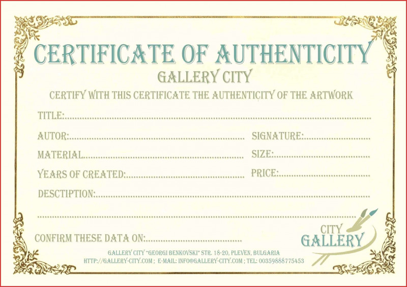 Certificate Of Authenticity Template Awesome 012 in Quality Certificate Of Authenticity Free Template