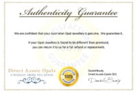 Certificate Of Authenticity Templates  Word Excel Samples with Certificate Of Authenticity Template
