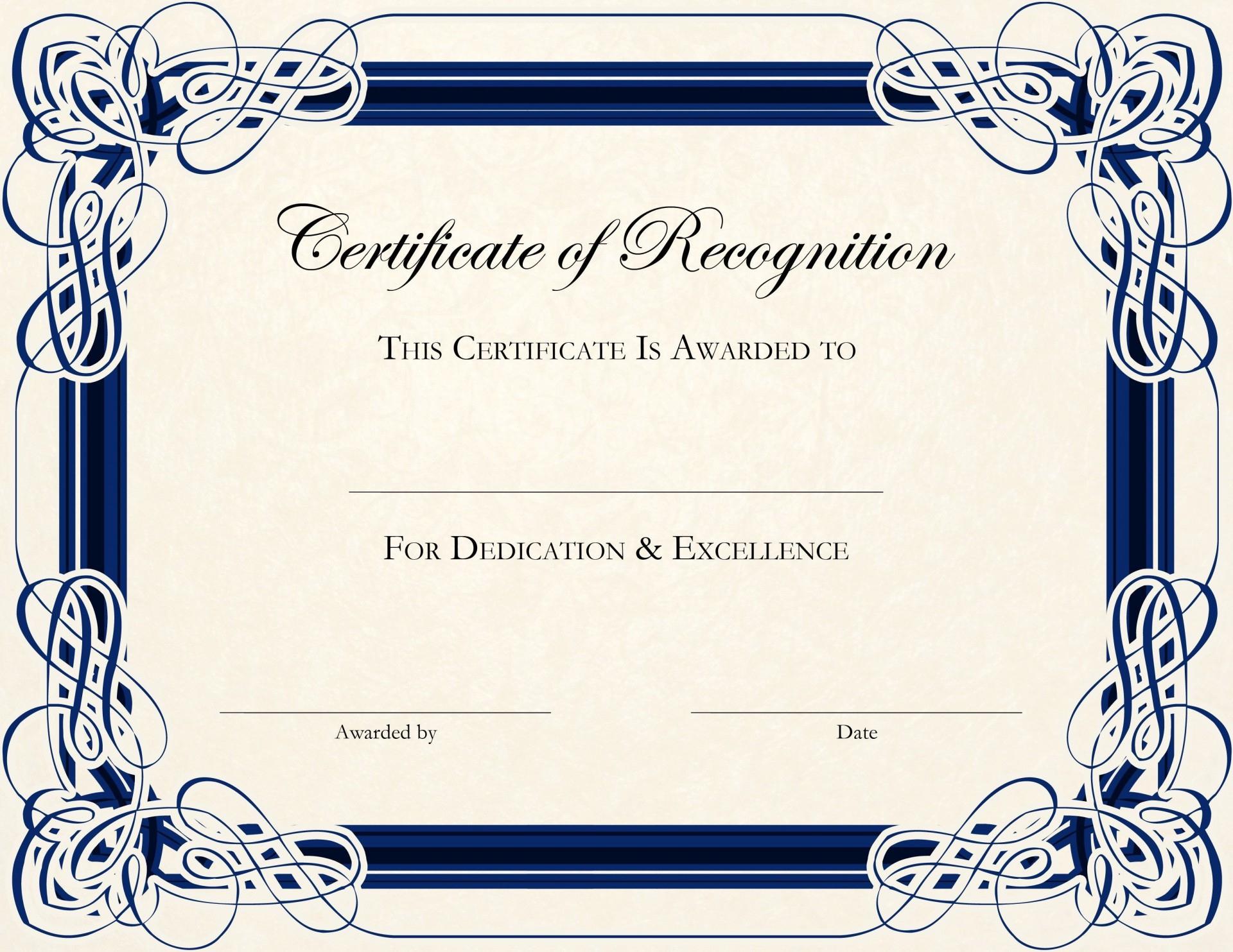 Certificate Of Award Template Word  Addictionary regarding High Resolution Certificate Template
