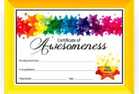 Certificate Of Awesomeness  Dabbles  Babbles  Free regarding Star Reader Certificate Template Free