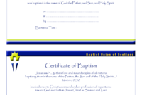 Certificate Of Baptism Catholic  Templates At pertaining to Baptism Certificate Template Download