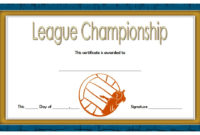 Certificate Of Championship 10 Great Template Awards intended for Basketball Tournament Certificate Templates