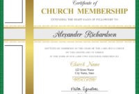 Certificate Of Church Membership Template  Postermywall for Awesome New Member Certificate Template