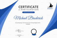 Certificate Of Coach Participation Design Template In Psd pertaining to Leadership Certificate Template Designs