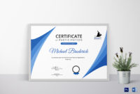 Certificate Of Coach Participation Design Template In Psd throughout Templates For Certificates Of Participation