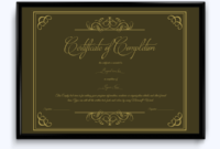 Certificate Of Completion 13  Word Layouts pertaining to Quality Free Certificate Templates For Word 2007