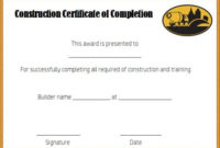 Certificate Of Completion 22 Templates In Word Format intended for Certificate Of Completion Free Template Word