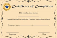 Certificate Of Completion 22 Templates In Word Format regarding Best Anger Management Certificate Template