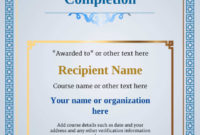 Certificate Of Completion  Free Quality Printable throughout Certificate Template For Project Completion