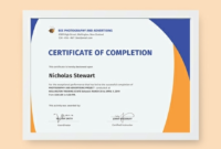 Certificate Of Completion Free Template Word 8 pertaining to Quality Honor Certificate Template Word 7 Designs Free