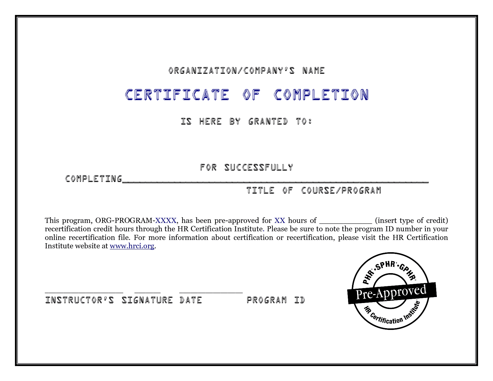 Certificate Of Completion Template 541  Word Templates with regard to Awesome Construction Certificate Of Completion Template