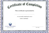 Certificate Of Completion Template  Business Mentor for Free Training Completion Certificate Templates