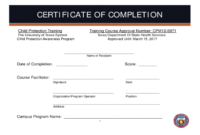 Certificate Of Completion Template Free Download in Certificate Of Construction Completion