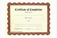 Certificate Of Completion Template Free Printable  Free pertaining to Certificate Of Completion Template Free Printable