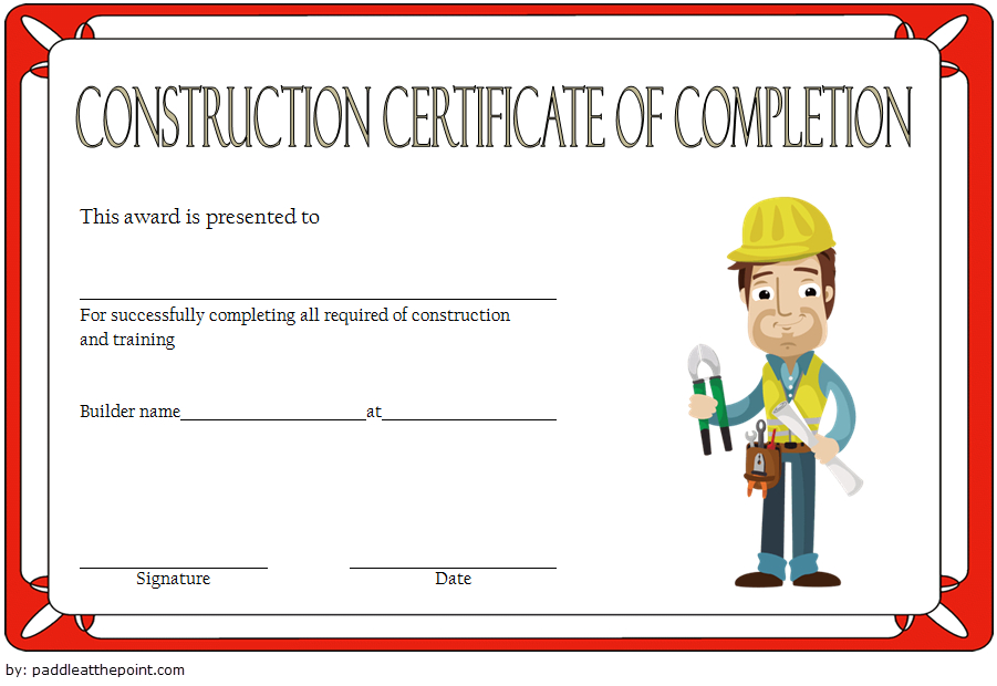 Certificate Of Construction Completion 10 Best Template in Travel Certificates 10 Template Designs 2019 Free