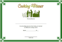 Certificate Of Cooking 7 Template Choices Free within Chef Certificate Template Free Download 2020