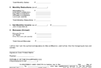 Certificate Of Employment With Compensation  Fill Online inside Template Of Certificate Of Employment