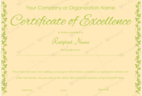 Certificate Of Excellence 02  Word Layouts  Word in Award Of Excellence Certificate Template